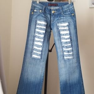 Womens Boot Cut Low Rise Jeans